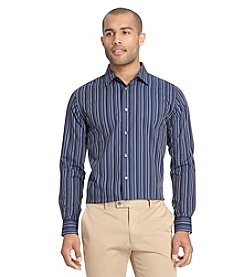 Van Heusen® Men's Long Sleeve Night Stripe Button Down