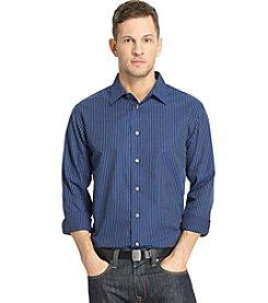 Van Heusen® Men's Long Sleeve Night Stripe Button Down