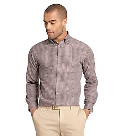 Van Heusen® Men's Long Sleeve Small Plaid No Iron Button Down