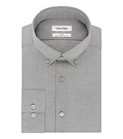 Calvin Klein Men's Slim Fit Solid Textured Dress Shirt