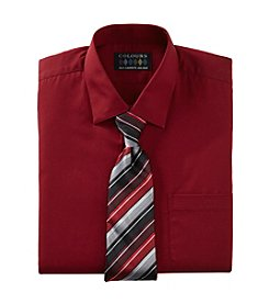Alexander Julian Men's Regular Fit Solid Dress Shirt With Tie