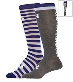 Under Armour® 2 Pack Wordmark II Over The Calf Socks