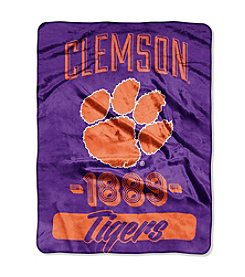 University of Clemson Varsity Micro Raschel Throw