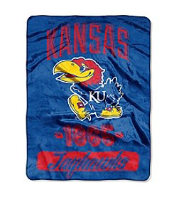 University of Kansas Varsity Micro Raschel Throw