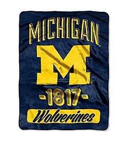 University of Michigan Varsity Micro Raschel Throw
