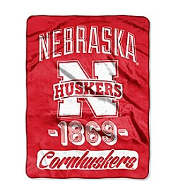 University of Nebraska Varsity Micro Raschel Throw