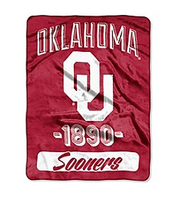 NCAA® University of Oklahoma Varsity Micro Raschel Throw