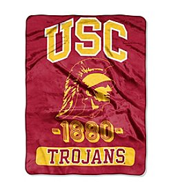 NCAA® University of Southern California Varsity Micro Raschel Throw