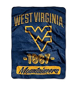 University of West Virginia Varsity Micro Raschel Throw