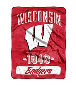 NCAA® University of Wisconsin Varsity Micro Raschel Throw