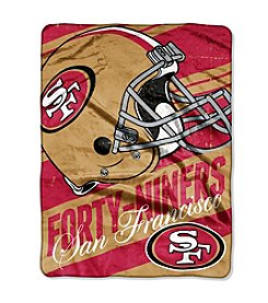 NFL® San Francisco 49ers Deep Slant Micro Raschel Throw
