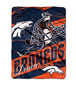 Denver Broncos Deep Slant Micro Raschel Throw