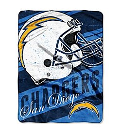 San Diego Chargers Deep Slant Micro Raschel Throw