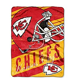 Kansas City Chiefs Deep Slant Micro Raschel Throw