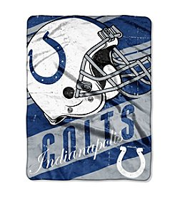 Indianapolis Colts Deep Slant Micro Raschel Throw