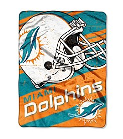 Miami Dolphins Deep Slant Micro Raschel Throw