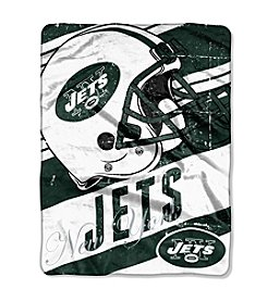 NFL® New York Jets Deep Slant Micro Raschel Throw