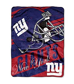 New York Giants Deep Slant Micro Raschel Throw
