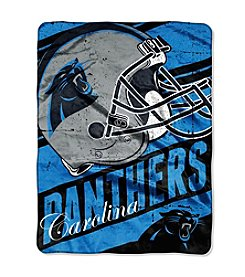 NFL® Carolina Panthers Deep Slant Micro Raschel Throw