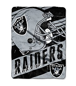 Oakland Raiders Deep Slant Micro Raschel Throw