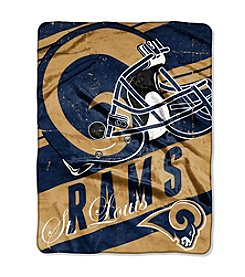 NFL® St. Louis Rams Deep Slant Micro Raschel Throw