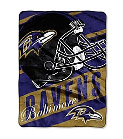 Baltimore Ravens Deep Slant Micro Raschel Throw