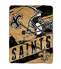 NFL® New Orleans Saints Deep Slant Micro Raschel Throw