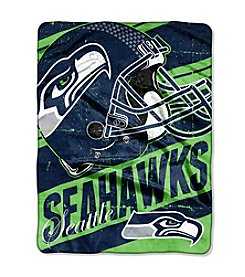 Seattle Seahawks Deep Slant Micro Raschel Throw