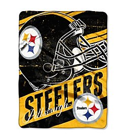Pittsburgh Steelers Deep Slant Micro Raschel Throw