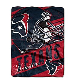 NFL® Houston Texans Deep Slant Micro Raschel Throw