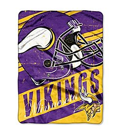 Minnesota Vikings Deep Slant Micro Raschel Throw