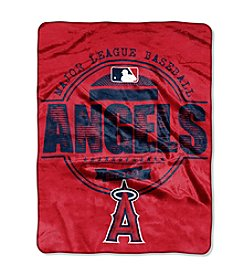 Los Angeles Angels Structure Micro Raschel Throw