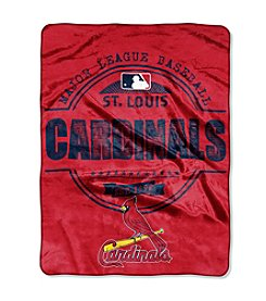 MLB® St. Louis Cardinals Structure Micro Raschel Throw