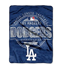 MLB® Los Angeles Dodgers Structure Micro Raschel Throw