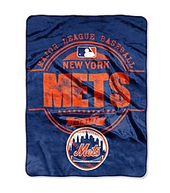 MLB® New York Mets Structure Micro Raschel Throw