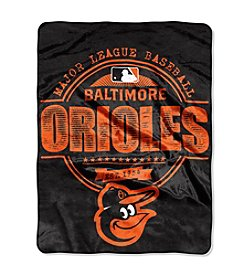 Baltimore Orioles Structure Micro Raschel Throw