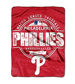 Northwest Company MLB® Philadelphia Phillies Structure Micro Raschel Throw