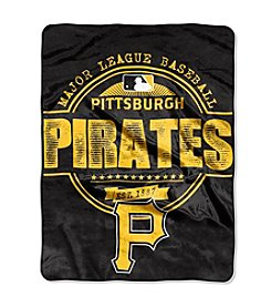 MLB® Pittsburgh Pirates Structure Micro Raschel Throw