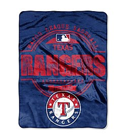 MLB® Texas Rangers Structure Micro Raschel Throw