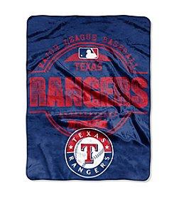 Texas Rangers Structure Micro Raschel Throw