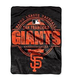 San Francisco Giants Structure Micro Raschel Throw