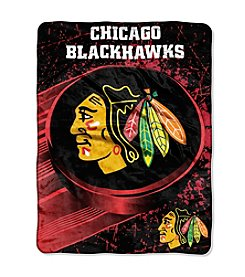 NHL® Chicago Blackhawks Ice Dash Micro Raschel Throw