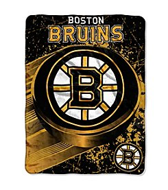 NHL® Boston Bruins Ice Dash Micro Raschel Throw