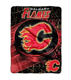 Calgary Flames Ice Dash Micro Raschel Throw