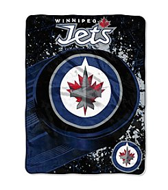 Winnipeg Jets Ice Dash Micro Raschel Throw