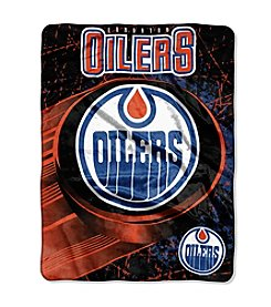 NHL® Edmonton Oilers Ice Dash Micro Raschel Throw
