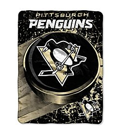 Pittsburgh Penguins Ice Dash Micro Raschel Throw