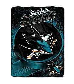NHL® San Jose Sharks Ice Dash Micro Raschel Throw