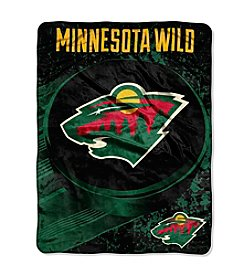 Minnesota Wild Ice Dash Micro Raschel Throw