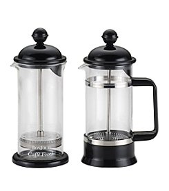 BonJour® 3-Cup Black La Petite French Press and Milk Frother Set